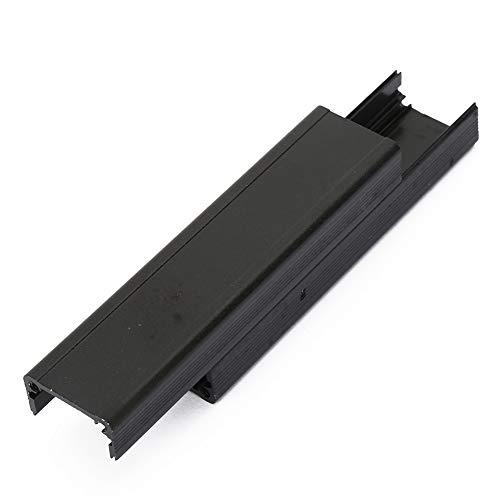 Weikeya Aluminium-Kühlbox, geeignet für elektronische Projektgehäuse, Aluminium-Kühlbox, Wärmeableitung, Schwarz