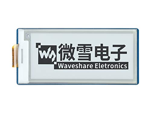 Waveshare 2.9inch E-Paper E-Ink Display Module for Raspberry Pi Pico 296×128 Pixels Black/White SPI Interface Partial Refresh Wide Viewing Angle