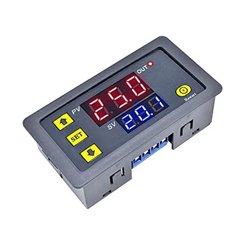 ZRYYD DC 12V AC 110V 220V Digitalzeit Verzögerungsrelais Dual LED-Anzeige Zyklus Timer Steuerschalter Einstellbar 0-999 Stunden Einstellbare Leistung (Color : AC 110V 220V)