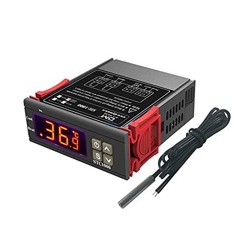 ZRYYD STC-1000 DC 12V 24V AC 110V 220V 10A Zwei Relaisausgang LED Digital Temperaturregler Thermostat Inkubator mit Heizkühler (Color : DC 12V)