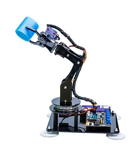 Adeept 5-DOF Roboterarm-Kit Kompatibel mit Arduino IDE   DIY Robot Kit   STEAM Robot Arm Kit mit OLED-Display   Verarbeiten von Code und PDF-Tutorial über den Download-Link