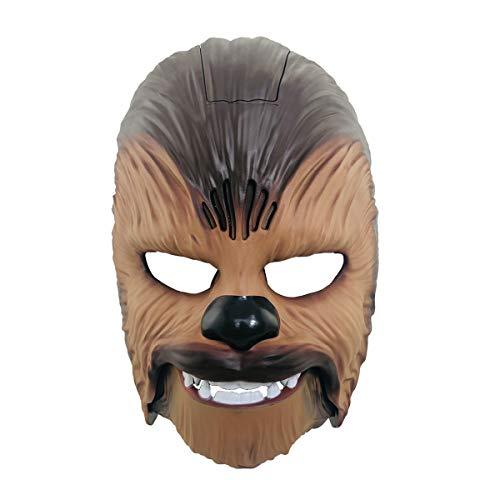 Chewbacca Maske Force Awakens Herren Elektronische Sound Maske Spielzeug Kostüm für Erwachsene Halloween Party Braun