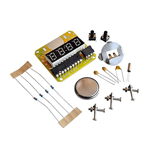ZRYYD Digitaluhr Elektronische Uhr Kit Single-Chip-LED-Uhren Elektronische Uhr Kit DIY LED mit transparentem Deckel DIY Kit