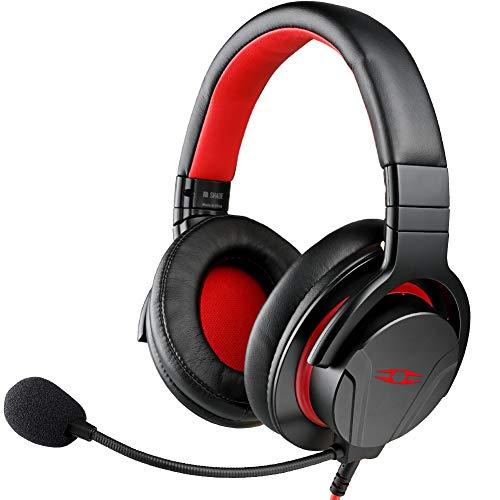 TAKSTAR Over-Ear-Kopfhörer mit Mikrofon, Headset mit Verlängerungskabel, verwendbar für Videoaufnahmen, Chat, Gaming, geeignet für PC/Mac/PS4/Xbox One, kompatibel mit CTIA-Schnittstellengeräten GM200