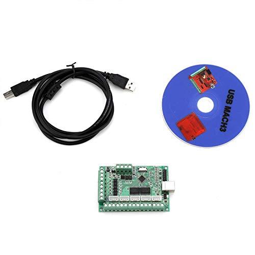 MACH3 USB-Platine, USB-Schnittstellenplatine CNC MACH3 Motion Control-Karte für Graviermaschine für 64-Bit-Systeme, Laptops (3,96 x 2,36 Zoll)