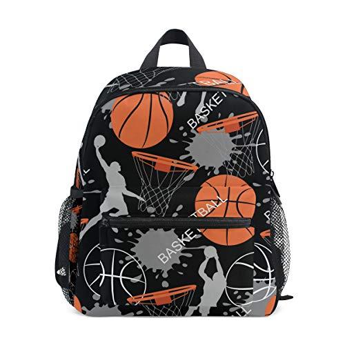 KUWT Rucksack mit Blumen-Zitat, Tierfaultiere, Tagesrucksack, Schultertasche für Jungen und Mädchen mehrfarbig Basketball S