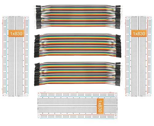 Deyue Breadboard Jumper Set für Elektronik-Experimente / Arduino und Raspberry Pi Projekte 3breadboard+3Jumper