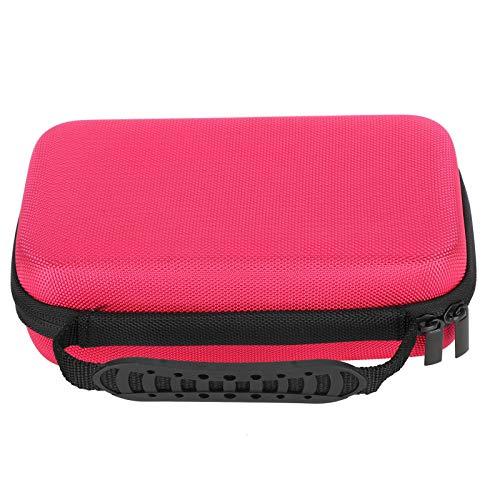 SALUTUYA Einfache Schreibwaren-Tasche, Schreibwaren-Aufbewahrung Große handgehaltene Stift-Tasche für die Grundschule und das Büro-Markierungsetui(Rose red)
