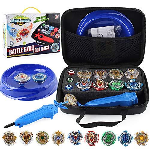 YMMONLIA 30 Stück Kampfkreisel Set, 4D Fusion Modell Metall Masters Kreisel mit Launcher, Koffer und anderem Zubehör Kinderspielzeug