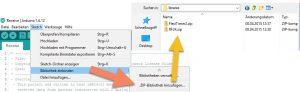 Bibliotheken in Arduino IDE importieren